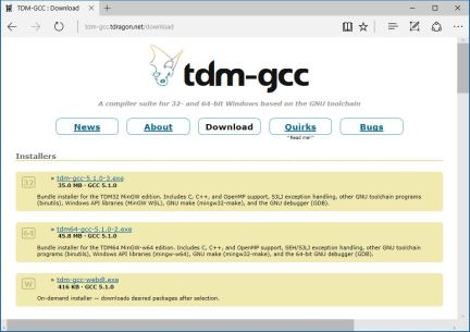 tdm-gcc-tdragon-net-download-page